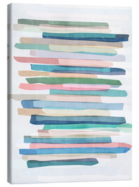 Toile  Pastel Stripes 1 - Mareike Böhmer Graphics