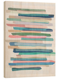 Bois  Pastel Stripes 1 - Mareike Böhmer Graphics