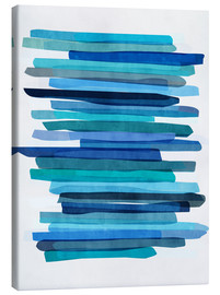 Toile  Blue Stripes 1 - Mareike Böhmer Graphics