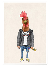 Poster  Punk Rooster - Barruf