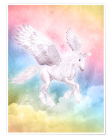 Poster  Unicorn Pegasus - Big Dreams - Dolphins DreamDesign