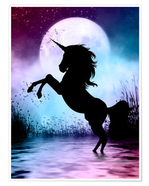 Poster  Unicorn Magic - Dolphins DreamDesign