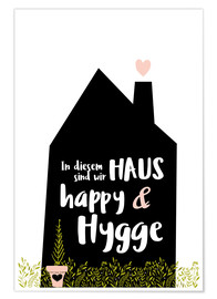 Poster Happy + Hygge (allemand)