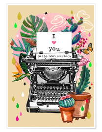 Poster  I love you to the Moon and back - Elisandra Sevenstar