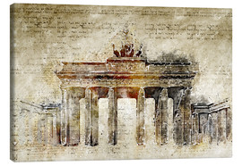 Toile  Berlin Brandenburg Gate in modern abstract vintage look - Michael artefacti