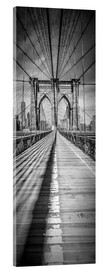 Tableau en verre acrylique  NEW YORK CITY Brooklyn Bridge Panorama - Melanie Viola
