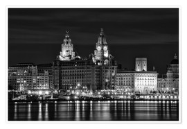 Poster Liverpool Water Front