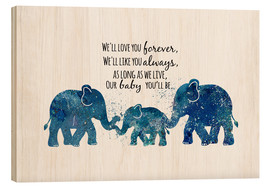 Tableau en bois  Love you forever - Dani Jay Designs