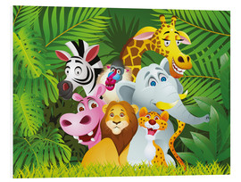 Tableau en PVC  Les animaux de la jungle - Kidz Collection