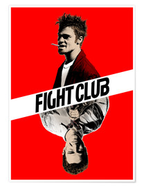 Poster  Fight club, double face - Paola Morpheus