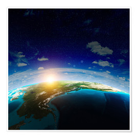 Poster  The Earth from space, NASA