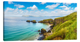Tableau sur toile  Coast of Northern Ireland on a beautiful summer day
