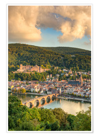 Poster Heidelberg in the evening sun