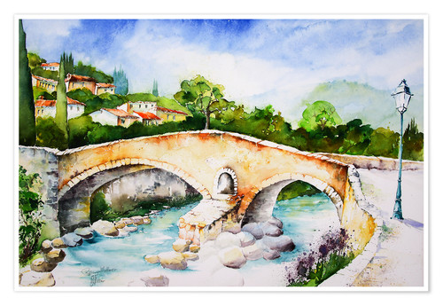 Poster Pont Roma in Pollenca