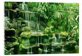 Tableau en verre acrylique  Erawan waterfall in the Erawan National Park - imageBROKER
