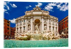 Tableau en verre acrylique  Trevi Fountain or Fontana di Trevi in ??summer