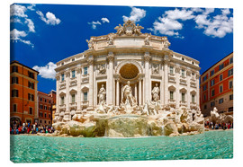 Toile  Trevi Fountain or Fontana di Trevi in ??summer