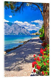 Verre acrylique  Beautiful Lago di Garda panoramic view, Italy