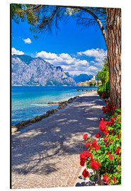 Alu-Dibond  Beautiful Lago di Garda panoramic view, Italy