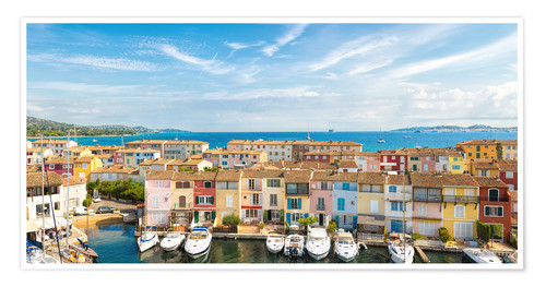 Poster Port Grimaud in the Gulf of St. Tropez
