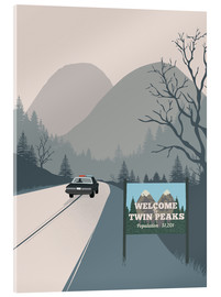 Tableau en verre acrylique  Welcome to Twin Peaks - 2ToastDesign