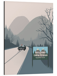 Alu-Dibond  Welcome to Twin Peaks - 2ToastDesign