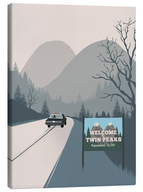 Tableau sur toile  Welcome to Twin Peaks - 2ToastDesign