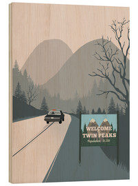 Tableau en bois  Welcome to Twin Peaks - 2ToastDesign