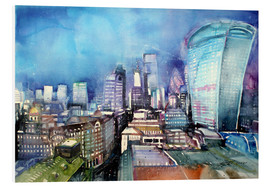 Tableau en PVC  London, The Walkie Talkie - Johann Pickl