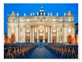 Poster Rome - St. Peter's Basilica