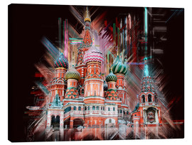 Tableau sur toile  Moscow Basilica Cathedral - Peter Roder