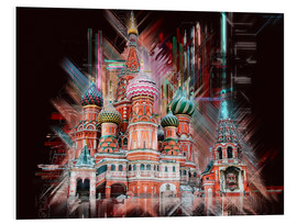 Tableau en PVC  Moscow Basilica Cathedral - Peter Roder