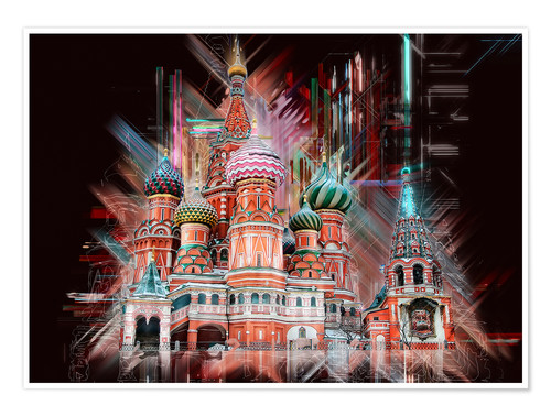 Poster Moscow Basilica Cathedral
