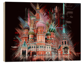 Tableau en bois  Moscow Basilica Cathedral - Peter Roder