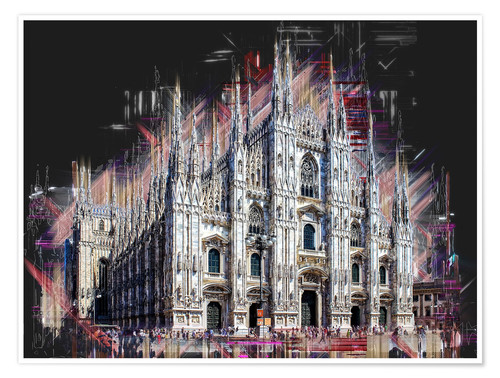 Poster Duomo di Milano the Cathedral of Milan