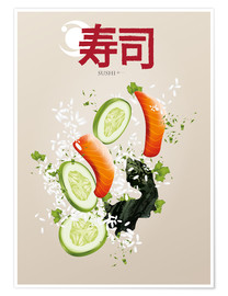 Poster Sushi is delicious