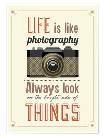 Poster  Life is photography