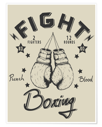 Poster Fight - Boxing