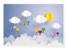 Kidz Collection - Balloon ride in the clouds