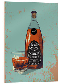 Verre acrylique  Whiskey bottle and glass