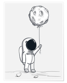 Poster Moon Balloon