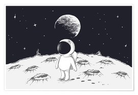 Poster  Little astronaut - Kidz Collection