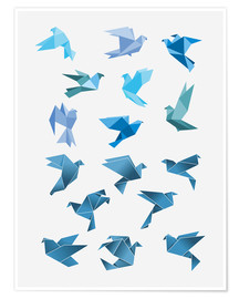 Poster  Origami Peace Doves