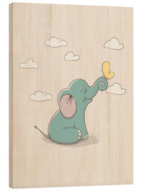 Bois  Little elephant with butterfly - Kidz Collection