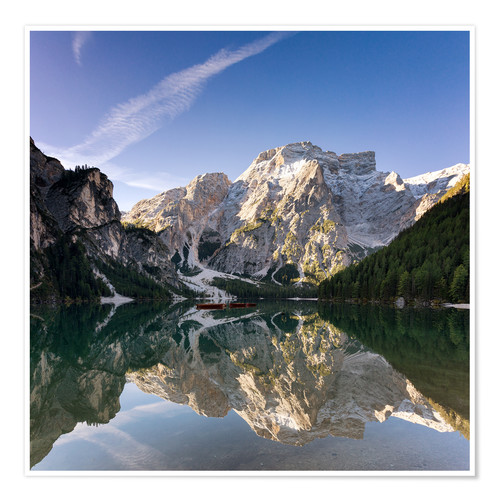 Poster Reflection at Lake Prags, Soth Tyrol
