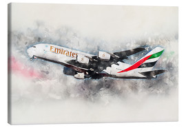 Tableau sur toile  Emirates A380 - airpowerart