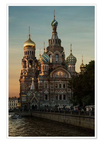 Poster Cathedral of the Savior in Sankt Petersburg