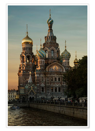 Poster  Cathedral of the Savior in Sankt Petersburg - Jaroslaw Blaminsky