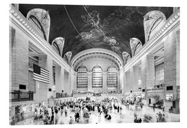 Tableau en verre acrylique  Grand Central Terminal, New York (monochrome) - Sascha Kilmer
