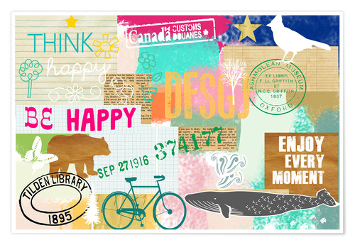 Poster Enjoy every moment, collage